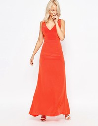 Шелковое платье макси Suboo Tangerine - Мандариновый