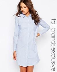 Платье-рубашка с длинными рукавами Noisy May Tall - Бледно-синий