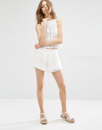Кружевные шорты First & I - Белый