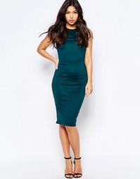 Платье-футляр миди AX Paris - Сине-зеленый