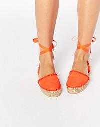 Эспадрильи с помпонами Miss KG - Оранжевый