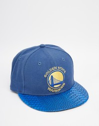 Кепка с вышивкой New Era 59 Fifty Golden State Warriors - Синий