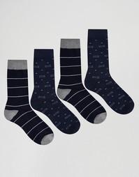 Комплект из 4 пар носков Jack & Jones - Синий