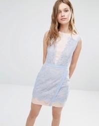 Двухцветное кружевное платье Greylin Lana - Periwinkle