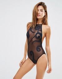 Слитный купальник Lee + Lani Starry Nite - Черный