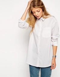 Белая рубашка бойфренда ASOS - Белый
