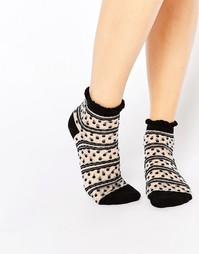 Носки с прозрачными вставками 7X - Черный прозрачный