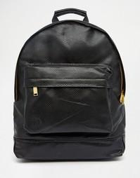 Черный рюкзак с отделкой под кожу ящерицы Mi-Pac - Черный