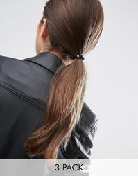Набор из 3 кружевных резинок для волос ограниченной серии - Черный Asos