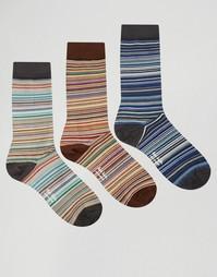 Подарочный набор из 3 пар носков в классическую полоску Paul Smith
