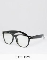 Очки с прозрачными стеклами Reclaimed Vintage - Черный