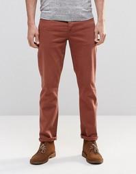 Красно-бурые эластичные узкие джинсы ASOS - Коричневый