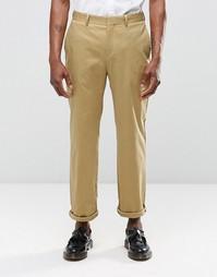 Укороченные прямые брюки цвета кэмел Religion - Кэмел