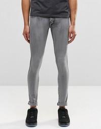 Серые выбеленные супероблегающие джинсы Dr Denim Kissy - Светло-серый
