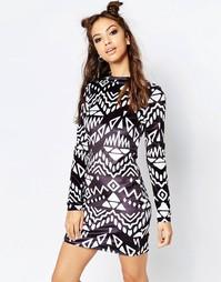 Черно-белое платье Jaded London - Черно-белый