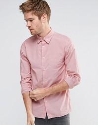 Рубашка слим с длинными рукавами Selected Fil - Розовый
