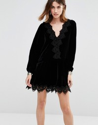 Платье Free People Velvet Dreams - Черный