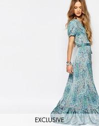 Платье макси с запахом и принтом пейсли Reclaimed Vintage - Мульти
