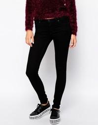 Черные джинсы скинни с заниженной талией Monki Nokimi - Черный