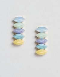 Серьги с радужными кристаллами Swarovski Krystal - Разноцветный