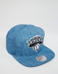 Бейсболка с отделкой NY Knicks Mitchell & Ness - Синий