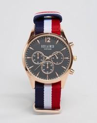 Часы с черным циферблатом и хронографом Reclaimed Vintage - Мульти