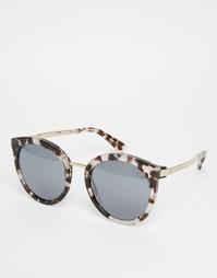 Зеркальные круглые солнцезащитные очки Dolce & Gabbana - Черепаховый