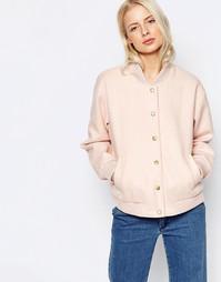 Розовая куртка-пилот Ganni Inglewood - Розовая дымка