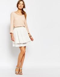 Белая мини-юбка Suncoo Floaty - Белый
