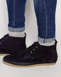 Высокие ботинки чукка Farah Drape - Темно-синий