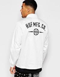 Спортивная куртка с принтом на спине HUF - Белый