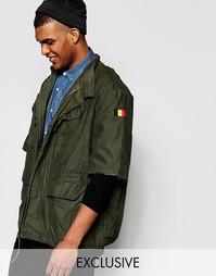 Куртка в стиле милитари с необработанными рукавами Reclaimed Vintage