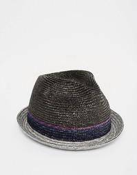 Соломенная шляпа Paul Smith Panama - Синий