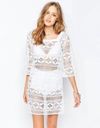 Платье мини в стиле кроше Gypsy 05 - Аджарская слоновая кость