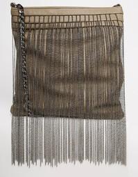 Сумка с бахромой из цепочек Glamorous - Серо-коричневый