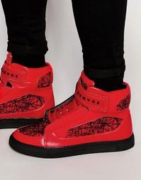 Высокие кроссовки Criminal Damage Atlantis - Красный