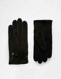Замшевые перчатки Peter Werth - Черный