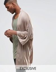 Кимоно свободного кроя Reclaimed Vintage - Серый