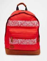 Ярко-красный рюкзак Mi-Pac Bandana - Красный