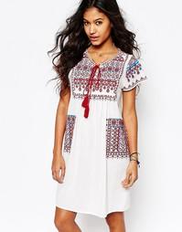 Платье-туника с карманами и вышивкой Star Mela Lina