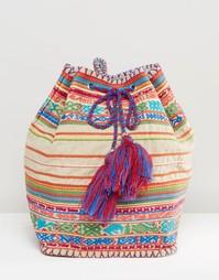 Рюкзак с кисточками Star Mela - Бежевый