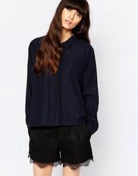 Темно-синяя рубашка Just Female Triba - Темно-синий