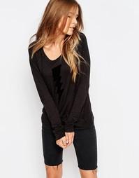 Укороченный пуловер с принтом Sundry - Винтажный черный