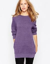 Свитшот в рубчик с длинными рукавами Sundry - Сливово-фиолетовый