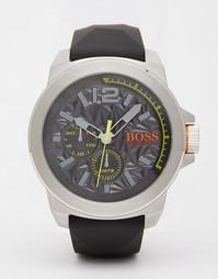 Часы с фактурным циферблатом и силиконовым ремешком BOSS Orange New Yo