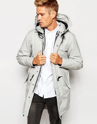 Парка со съемной курткой-пилот Selected Homme Premium - Светло-серый