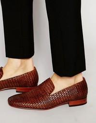 Туфли-слиперы с тканым верхом Jeffery West - Коричневый