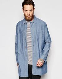 Длинное пальто Bethnals Graham - Синий