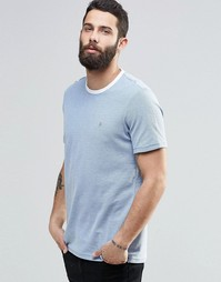 Голубая футболка с контрастной отделкой Farah - Морской котик