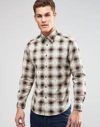 Рубашка классического кроя в клетку с длинными рукавами Esprit - Кэмел